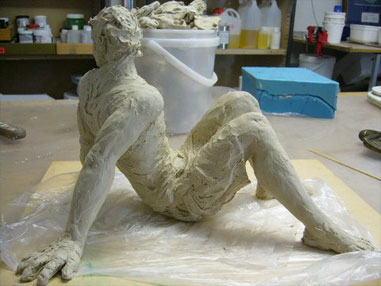 Original clay sculpture, 2nd stage, by Michelle Caithness